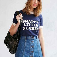Future State Snappy Little Number Tee Shirt- Blue