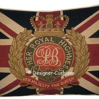 Union Jack Her Majesty The Queen Tapestry by designercushions