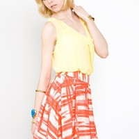 Collective Concepts Pleated Skirt- Collective Concepts Skirts- $52.99