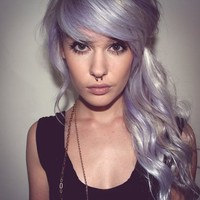 *-*, awww, beautiful, hair, piercing, purple. - inspiring picture on Favim.com