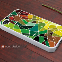 Iphone case iphone 4 case iphone 4s case iphone 4 cover colorized patches of colour Green style graphic design printing ($13.99)