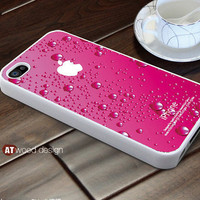 iphone 4s case pink water-drop iphone case design iphone 4 case iphone 4 cover unique case ($13.99)