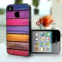 iphone case iphone 4 case iphone 4s case iphone 4 cover colorized wood texture Iphone Logo design printing ($13.99)