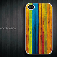 iphone 4 case iphone 4s case iphone 4 cover colorized wood texture image unique design printing ($13.99)