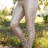 RESTOCK: Sparkle All Day Pants: Gold