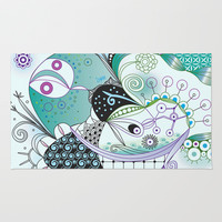 Winter tangle Area & Throw Rug by /CAM