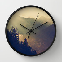Sunrise over the Mountians Wall Clock by Kurt Rahn