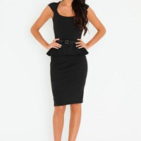 Missguided - Francheska Tailored Peplum Dress