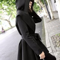 Hooded Discount Long Coat Outerwear$38.00
