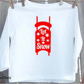 Let it Snow Shirt, Kids Christmas Shirt, Toddler, Youth