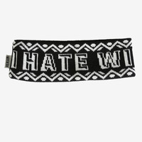 I Hate Winter Ear Warmers - By Reason Clothing - One Size / Black & White