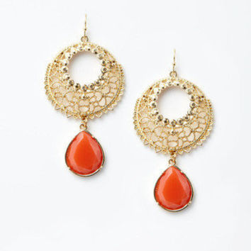 Gold Filigree Drop Earrings | Gilt Groupe