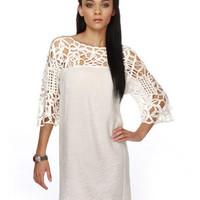 Lovely Lace Dress - White Dress - $38.00