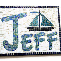 Mosaic Name Art, Personalized Nursery Decor