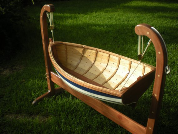 Baby+Boat+Cradle Baby Tender Rocking Cradle by from BeaverBoatworks on ...