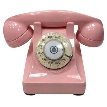 Pre-owned Pink Western Electric Lucy 302 Rotary Dial Phone
