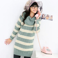 Sweater Dress + Circle Scarf