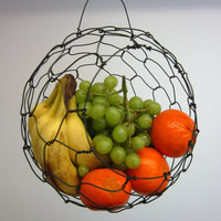 Large Hanging Sphere Fruit Basket