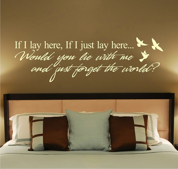 Snow Patrol Lyric vinyl wall decal