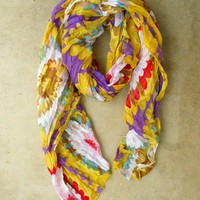 Colorful Chrysanthemum Scarf [2394] - $18.40 : Vintage Inspired Clothing & Affordable Summer Dresses, deloom | Modern. Vintage. Crafted.