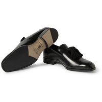 Jimmy Choo - Foxley Tasslled Polished-Leather Slippers | MR PORTER
