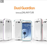 [MobC] Samsung Galaxy S3 S III 3 Dual-Guardian Layered Commuter Anti-Shock Case