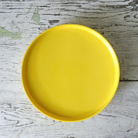 Heller Massimo Vignelli Plates - Set of 3, Melamine, Yellow, Stackable