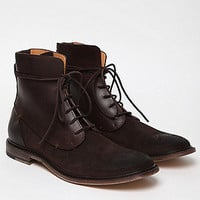 Maison Martin Margiela 22 Men's Waxed Suede and Leather Boot in brown