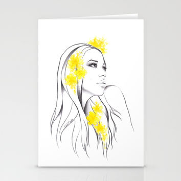 Yellow Stationery Cards by EDrawings38
