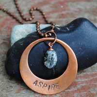 Aspire Inspiration Pendant with a Choose Your Stone on a Ball Chain Necklace