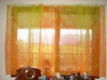 Orange Yellow And Lime Green Curtains By From Window
