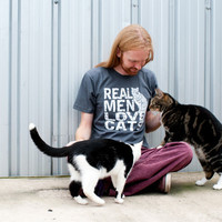 Mens tshirt - Real Men Love Cats American Apparel five colors