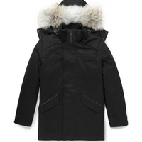 Canada Goose - Trento Coyote-Trimmed Wool Parka | MR PORTER
