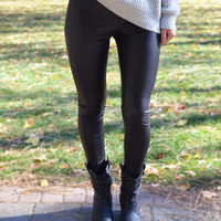 Faux Leather Leggings - Threadlust