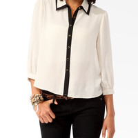 Contrast Tiered Collar Shirt
