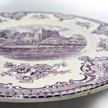 Dinner Plate - Johnson Bros - Old Britain Castles - Lavender - Purple