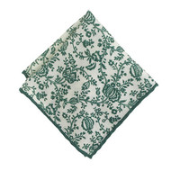 J.Crew Mens Italian Wool Pocket Square In Vine Print