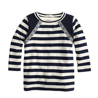 crewcuts Girls Long-Sleeve Embellished Stripe Tee