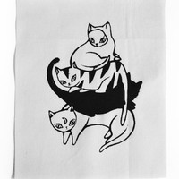 Pile of Cats Patch [White]
