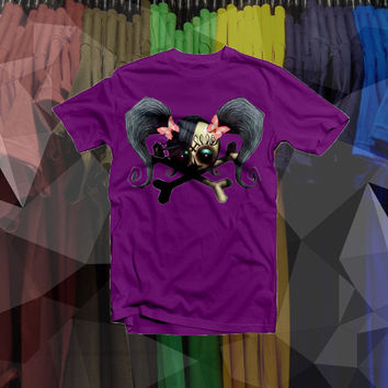 Punk skull with pigtails shirt - Cute graphic even for little kids!