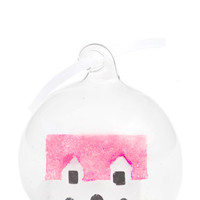 Sparkled Snowhouse Ornament
