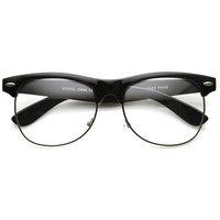 Retro Classic Half Frame Clear Lens Glasses 8846