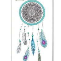 Native American Blue DreamCatcher On iPhone 4 Case, iPhone 4s Case, iPhone 4 Hard Case, iPhone Case-graphic Iphone case