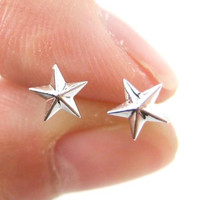 Classic Star Shaped Plastic Post Stud Earrings | ALLERGY FREE - Star Shaped Stud Earrings