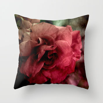 one rose Throw Pillow by VanessaGF