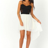 Missguided - Kathrine Lace Panel Asymmetric Dress