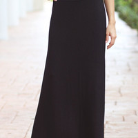 Black Maxi Skirt - Furor Moda
