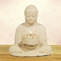 Stone Buddha With Candleholder - World Market