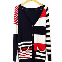 Irregular Stripes Mixed Color Sweater$39.00