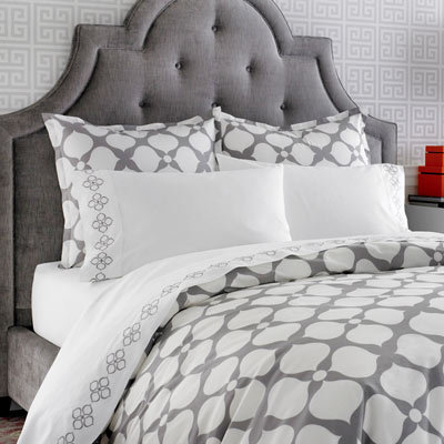Jonathan Adler Hollywood Grey Duvet Cover